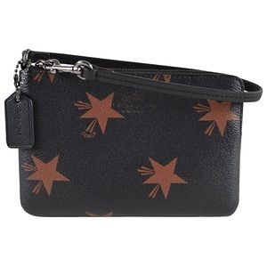 Coach Star Canyon Corner Zip Wristlet Brown Multi